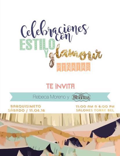 invitación Celebraciones con Estilo y Glamour
