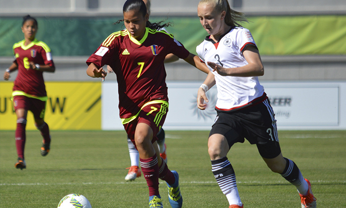 Venezolana marcó golazo de media cancha en el Mundial sub 17 femenino