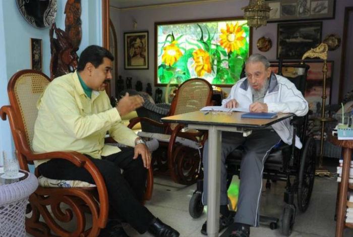 Presidente Nicolás Maduro rinde homenaje a Fidel