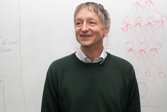 University Professor Geoffrey Hinton of the University of Toronto's Department of Computer Science. In 2012, Google acquired his startup company for its research on deep neural networks, which involves helping machines understand context.