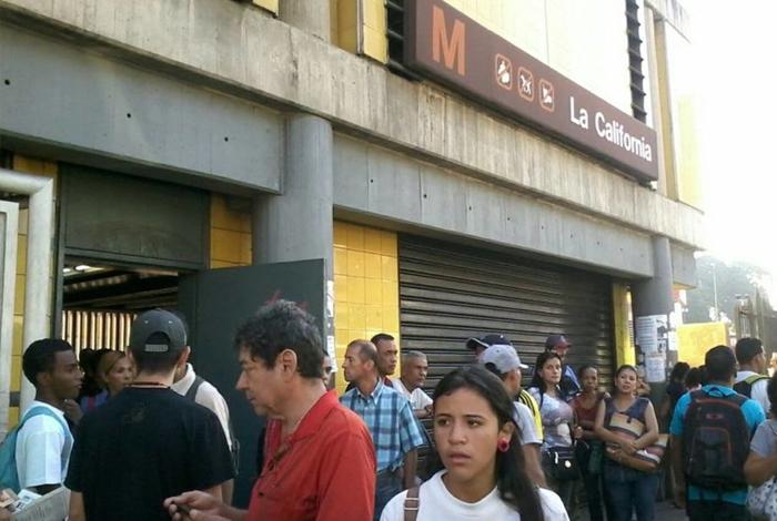 Cierran 29 estaciones comerciales del Metro de Caracas