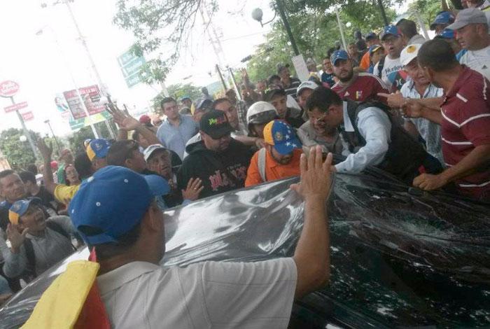 Tres arrollados durante manifestación en Lara