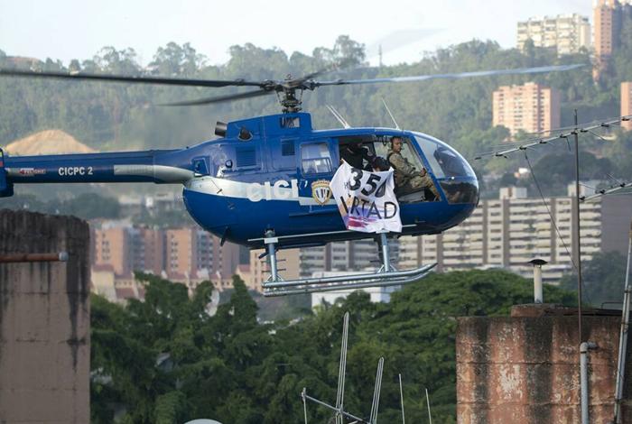4 granadas y 15 disparos desde el helicóptero — Ataque en Venezuela
