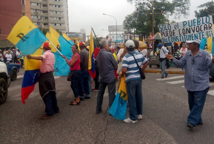 Dispersan concentraciones opositoras en Montalbán y La Candelaria