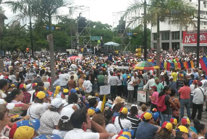 MUD convocó marcha hasta el CNE en Caracas para este lunes