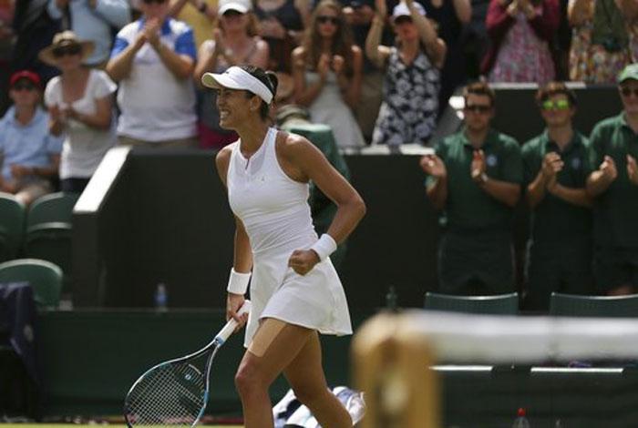 Muguruza se mete a la final de #Wimbledon