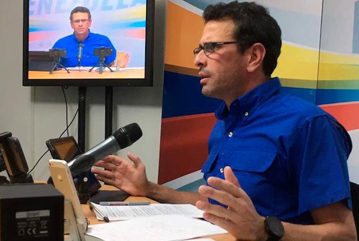 A Capriles no lo convence el diálogo — VENEZUELA