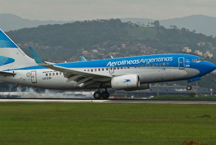Aerolíneas Argentinas suspende venta de pasajes a Caracas