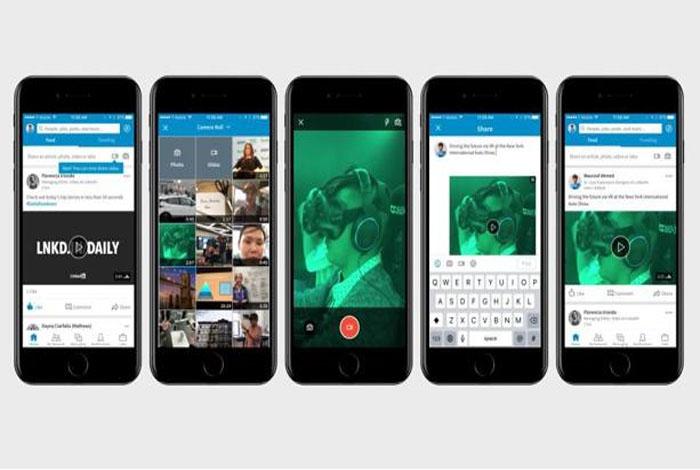 LinkedIn agrega soporte para videos nativos y un botón para iniciar conversaciones