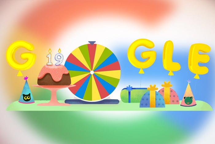 Google lanza doodle de Ruleta de la fortuna por su cumpleaños