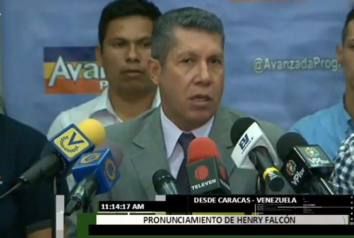 Falcón considera que el camino electoral es la vía para estabilizar económicamente al país