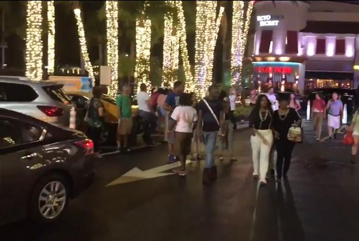 Fuerte presencia policial en Aventura Mall