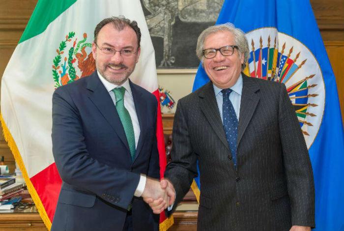 Canciller mexicano aborda el tema de Venezuela en sede de la OEA