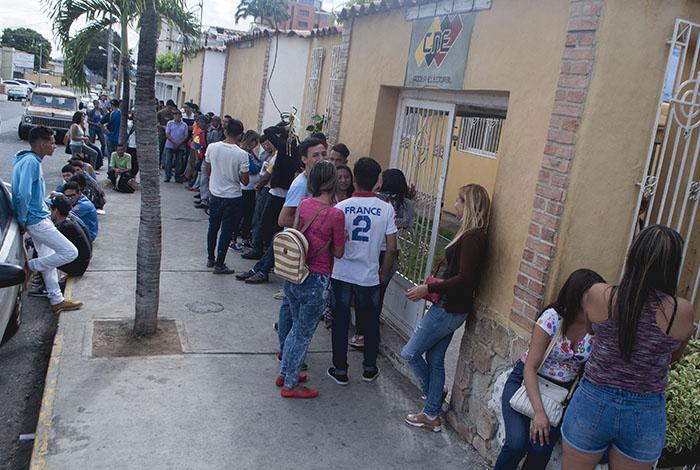 Este sábado iniciaron las jornadas para la inscripción en el registro electoral