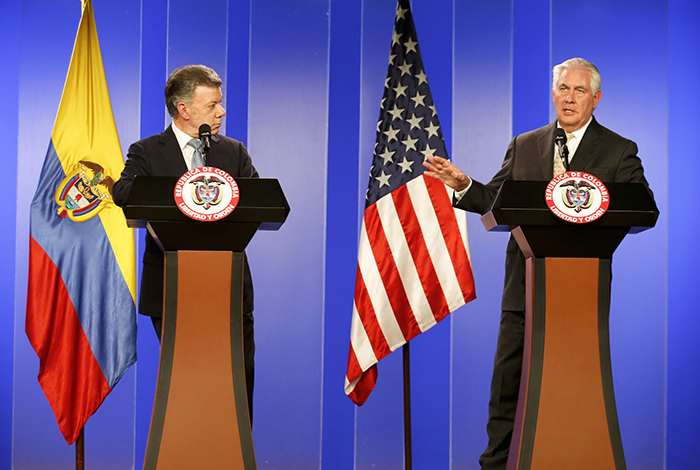 Rex Tillerson llega a Perú en el marco de su gira latinoamericana