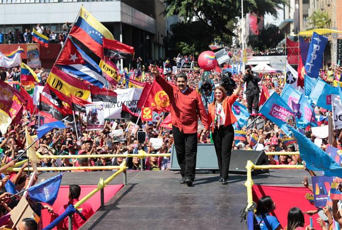 27/02/2018 @ 19:28 Maduro hace oficial su candidatura para reelegirse en Venezuela