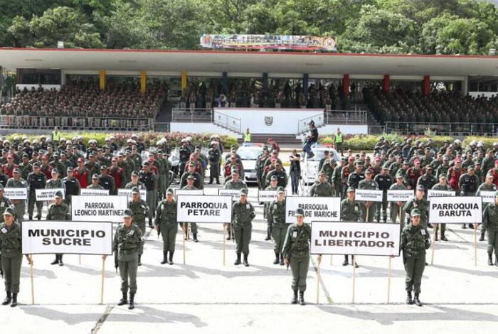 Cuerpos policiales quedarán bajo supervisión del Ceofanb durante el Plan República