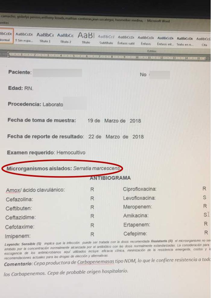InvestigaciónIMP 11 niños murieron por serratia marcescens en ...