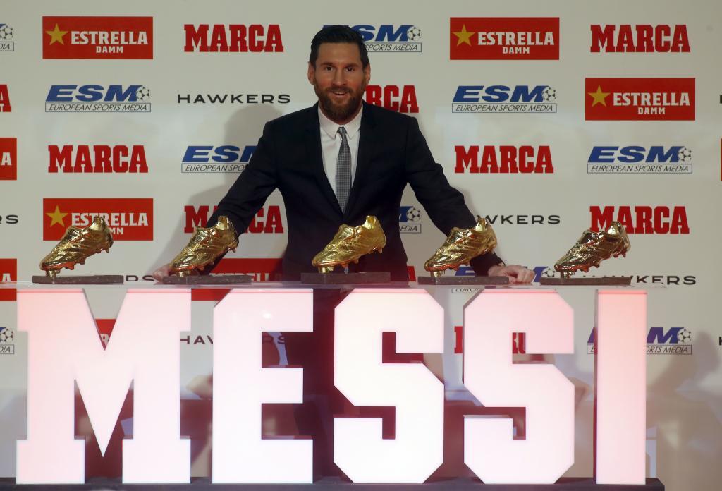 Lionel Messi recibe su quinta Bota de Oro y se acredita como el máximo goleador de europa #18Dic