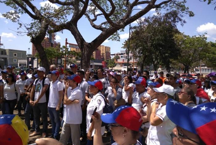 Las fotos aéreas de la juramentación de VoluntariosxVenezuela
