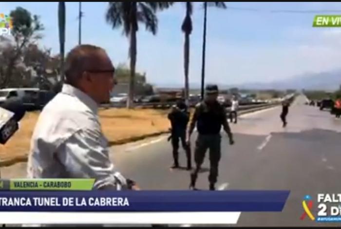 [VIDEO] Diputados opositores de Venezuela denuncian bloqueo de túnel La Cabrera