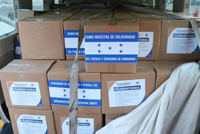 Hondureños envían ayuda humanitaria hacia ciudad colombiana de Cúcuta