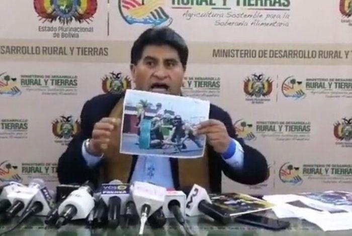 #Vídeo Ministro boliviano hizo falsas acusaciones con foto tomada en Cabudare durante protestas de 2014 #9Nov - El Impulso