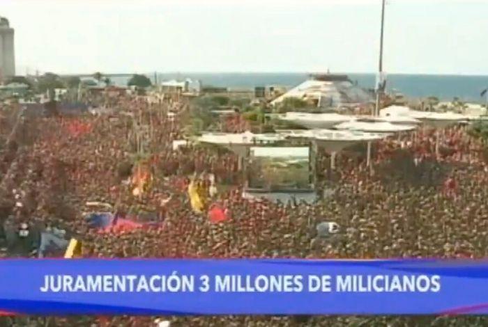 Nicolás Maduro juramenta en cadena nacional a 3 millones de milicianos #8Dic
